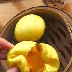 Ngon vãi chưởng :(( ăn bánh bao kim sa + classic green tea ở Ding tea so perfect 💓