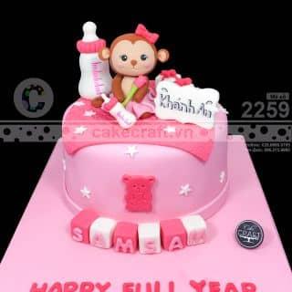 Bé khỉ Sam Sam - Bánh kem sinh nhật theo yêu cầu của tiembanh_cakecraft tại (Giao hàng tận nơi) Số 32 Nội khu Mỹ Toàn 2, Phú Mỹ Hưng, P. Tân Phong, Quận 7, Hồ Chí Minh - 4216991