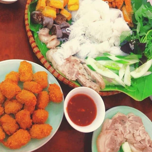 Bún đậu mắm tôm chả cốm của Hà Lê tại Bún đậu mắm tôm - Nguyễn Tuân - 124532