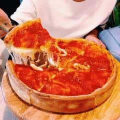 pizza 26cm nhân nhồi 300gr cheese ăn đã miệng dã man 😍 the best pizza i've ever eatten 👍👍