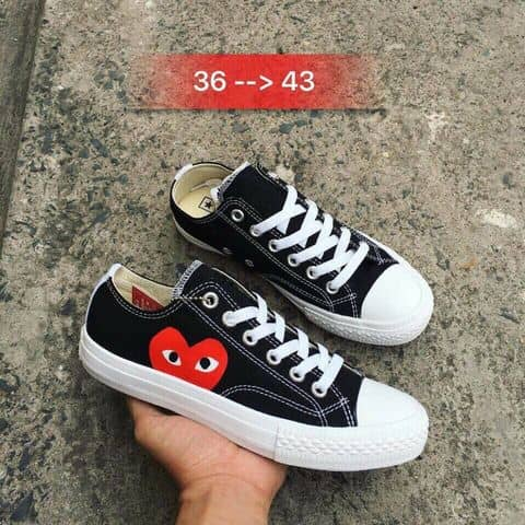 f6810d002a9c38 Comme Des Garcons Play X Converse Chuck Taylor - Hidden Heart Low Top  Sneaker