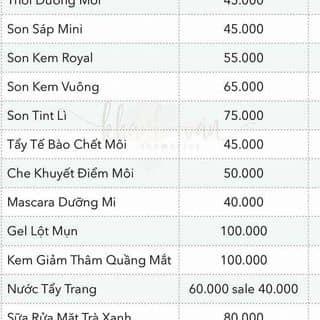 Đây là bản giá son khánh vân nha của lyluan7 tại Hồ Chí Minh - 1497243