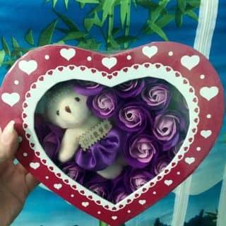 Hộp hoa sáp thơm trái tim kèm gấu của nanamimi tại Thái Bình - 2576120