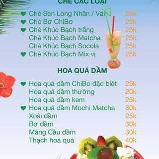 Hot menu ChiBo Drinks của chibodrinks tại Vĩnh Phúc - 3671852