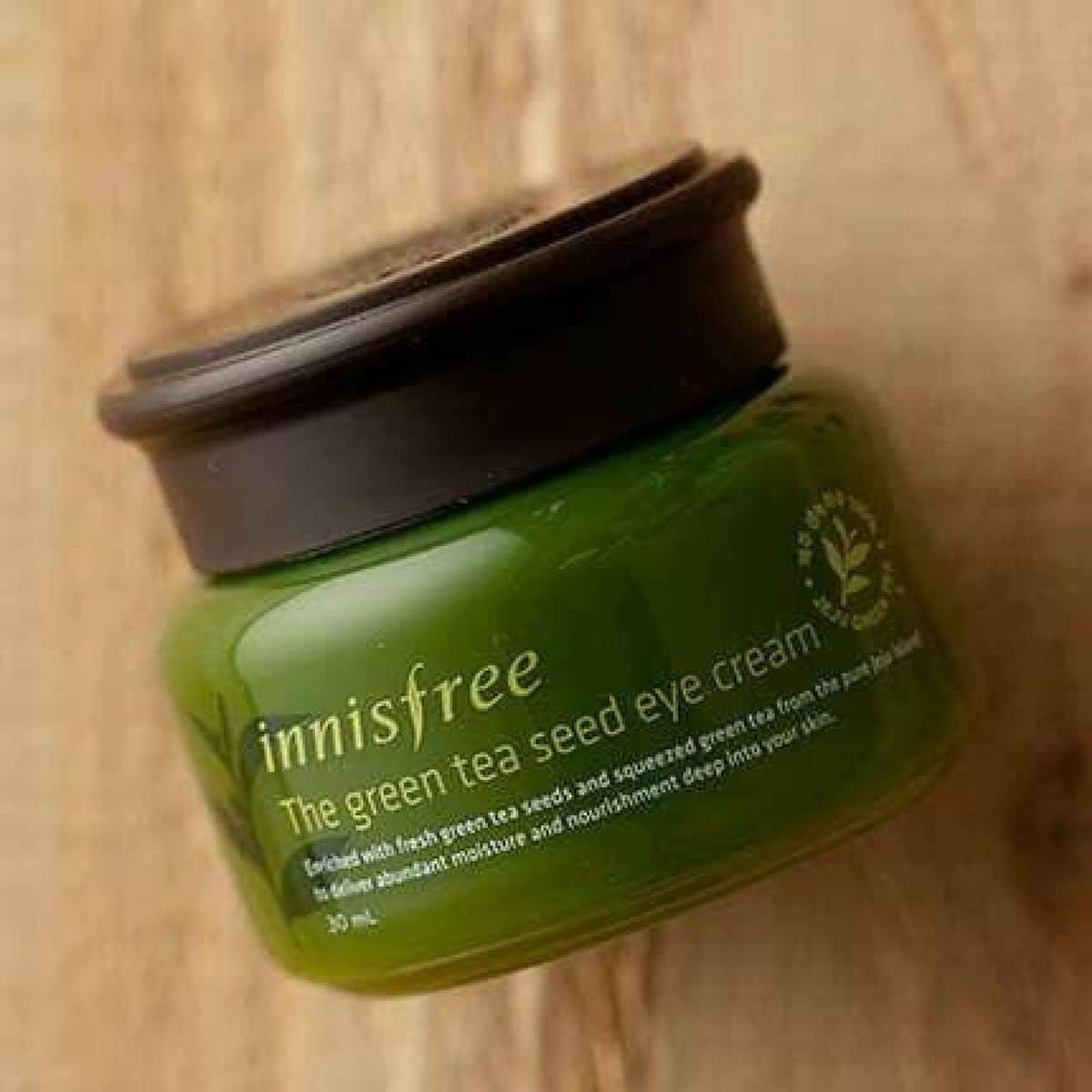 Kem Dng Dnh Cho Mt Innisfree The Green Tea Seed Eye Cream Ti 617 2 L Hng Phong Ca Keyheo Lozi