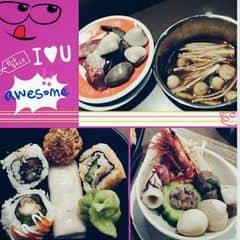#happykichi ♡♡♡ Lẩu nấm ngon nhất mình từng ăn, nấm giòn, ngọt, có nấm rơm, nấm kim châm, nấm đùi gà, nấm mèo, ôi nấm nấm nấm <3 Hải sản tới tấp, quan trọng là tươi! Sau đó tới bò, bò mềm tan trong miệng. Sau đó là sushi, dimsum. Đáng đồng tiền bát gạo!