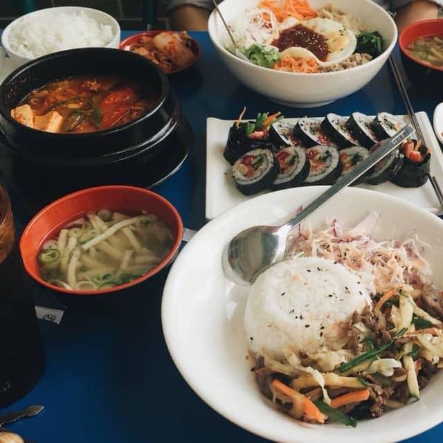 Lẩu kim chi + cơm + kimbap của Oanh Thủy tại Hanuri - Quán Ăn Hàn Quốc - Xô Viết Nghệ Tĩnh - 123003