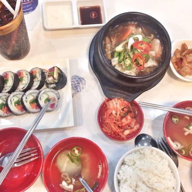 Lẩu kim chi + cơm + kimbap của Ánh Ánh tại Hanuri - Quán Ăn Hàn Quốc - Xô Viết Nghệ Tĩnh - 123003