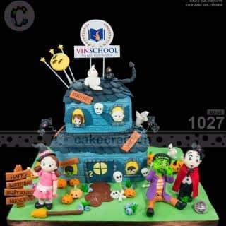 Lớp học ma quái - Halloween - Bánh kem sinh nhật tạo hình theo yêu cầu của tiembanh_cakecraft tại (Giao hàng tận nơi) Số 32 Nội khu Mỹ Toàn 2, Phú Mỹ Hưng, P. Tân Phong, Quận 7, Hồ Chí Minh - 4240664