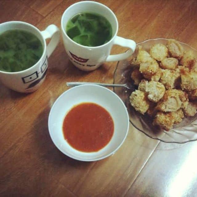 Nem chua rán, trà thái xanh của Nguyễn Chi tại my home - 127327