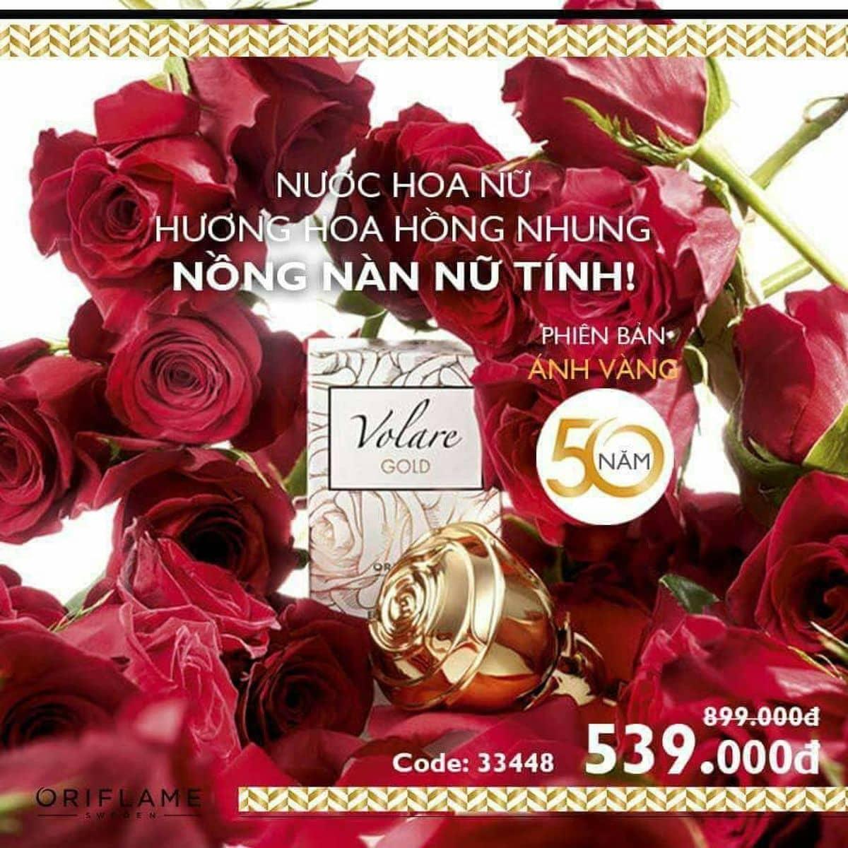 Nc Hoa Volare Gold Eau De Parfum Ti O S Tch Phc Kin Nh 50ml By Oryflame B Ca Hery Linh Lozi