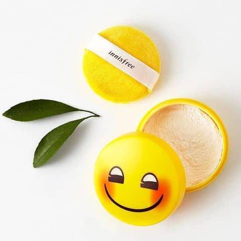 Kết quả hình ảnh cho Innisfree No Sebum Powder Emoji Limited Edition