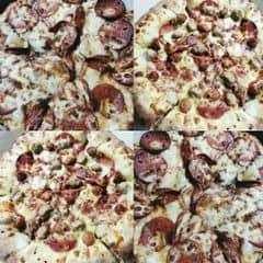 Ngon lắm cơ mà béo 😂 😂 😂    #pizza  #lozixuber