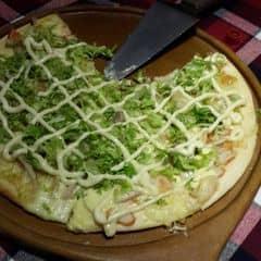 Pizza này không phải đậu vừa rang nha :33 Béo ngậy sốt mayo, hải sản giòn ngon ~