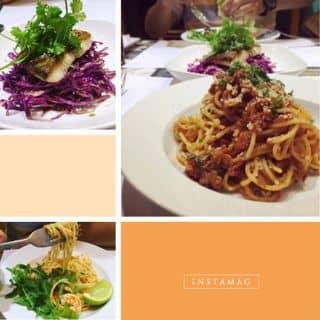 Spaghettti bò băm, spaghettti tôm xào ớt sừng ,salad của ellbi.lun tại 225/9 Nguyễn Đình Chiểu, Quận 3, Hồ Chí Minh - 1808360