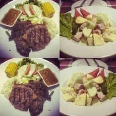 Ngon và đầy lắm lắm  Ăn steak rồi thì đừng nên gọi món ăn kèm quá nhiều làm gì không là no chớt không về nổi đâu 😂😂😂