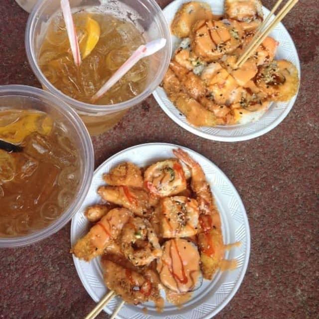 Thịt heo chiên xù - kimbap của TrL Hyến tại Hello Weekend Market - SVĐ Hoa Lư (chỉ mở t7-CN) - 157026