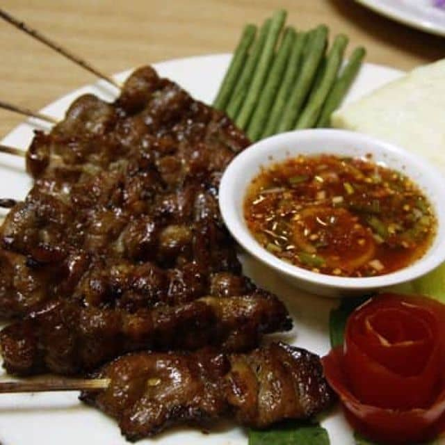 Thịt heo xiên nướng của Xanh Đậu tại Thai House - 107858