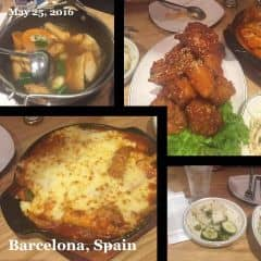 Tok phô mai, gà sốt chua ngọt , gà nước tương , canh chả cá  của Trang Phạm tại Papa's Chicken & Pizza - 260035
