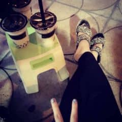 Trà sữa ôlong trân châu đen của Phính Má tại Ding Tea - Phạm Ngọc Thạch - 1121355