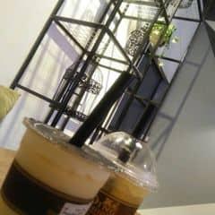 Trà sữa socola putding + trà đào của Etic Thủy tại Ding Tea - Cầu Giấy - 983588