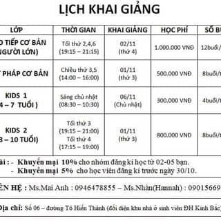 Tuyển sinh và khai giảng của nhunban tại Bắc Ninh - 1449948